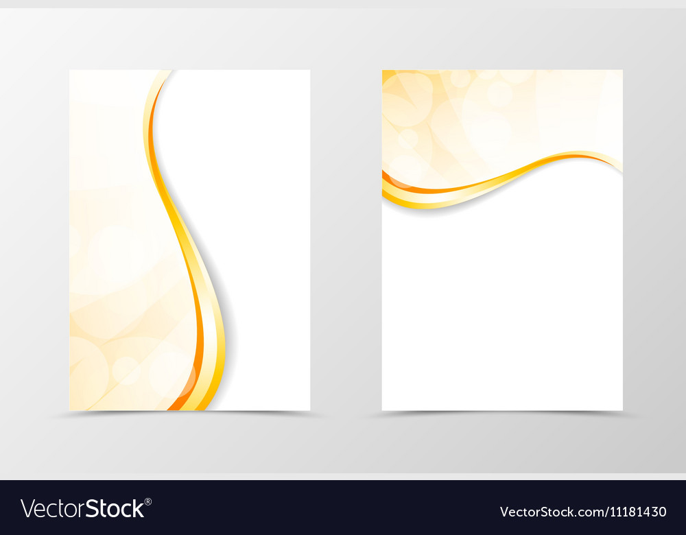 Front and back light smooth flyer template design vector image
