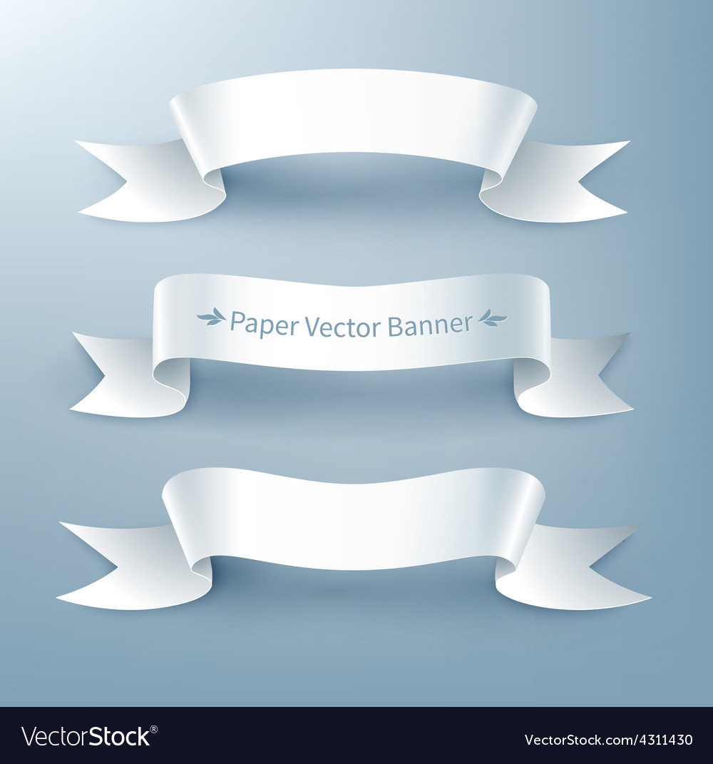 Paper ribbon banner vector image