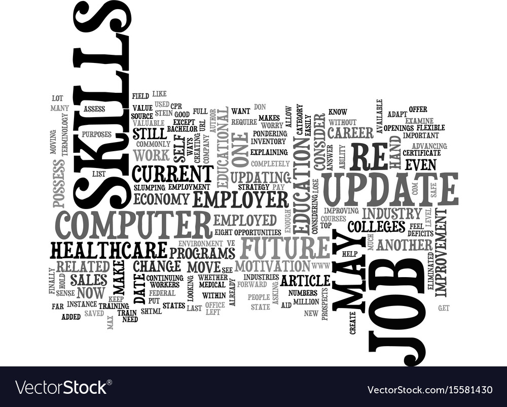 When should you update your job skills text word vector image