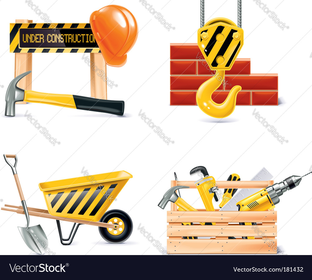 Home building icons vector image