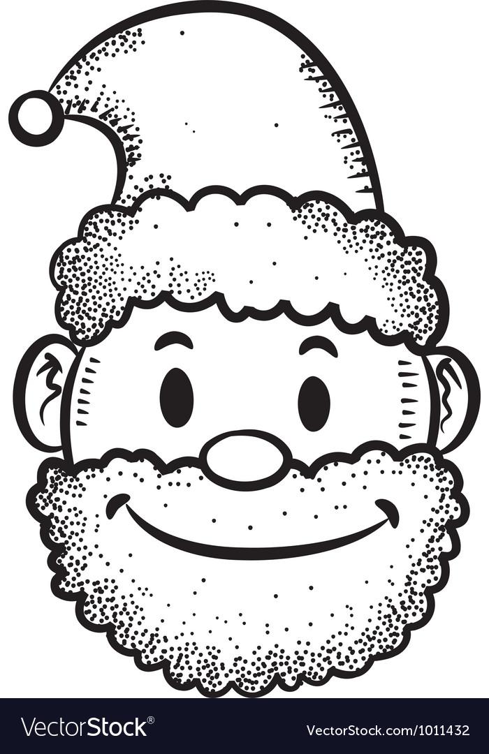 Santa head vector image
