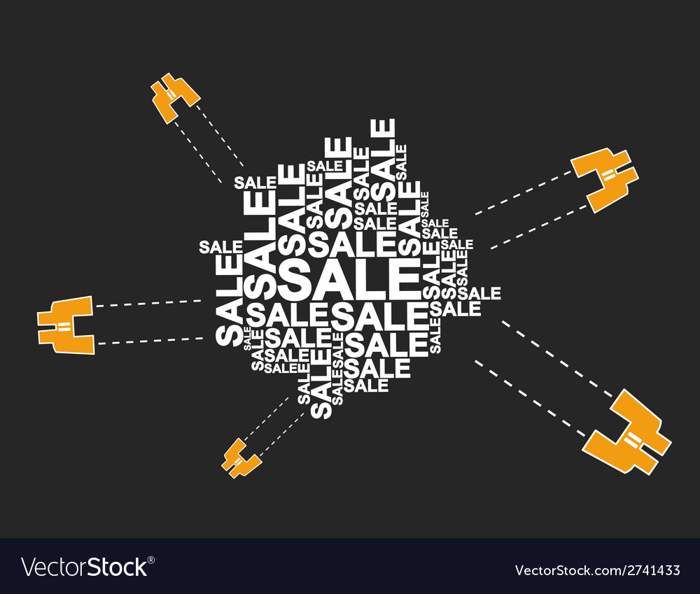 Field glass of sales vector image