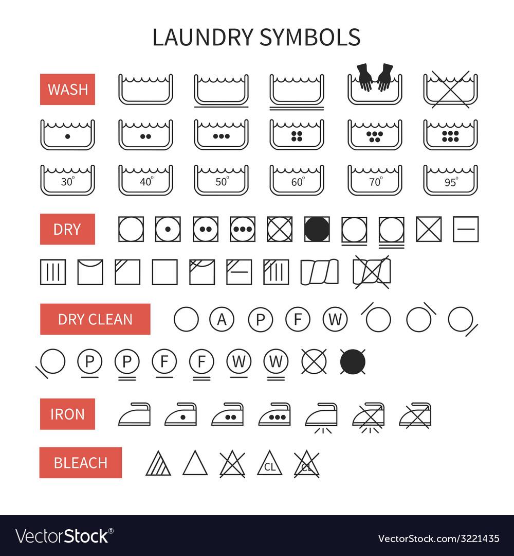 82 laundry symbols wash set of washing symbols laundry icons set of line simple washing instruction symbols vector image biocorpaavc