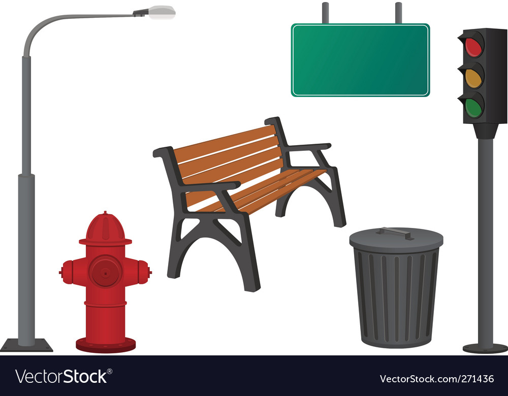 City objects vector image
