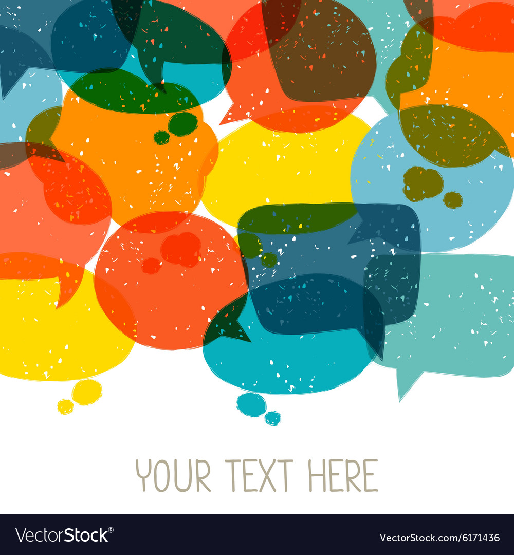 Background with abstract retro grunge speech vector image
