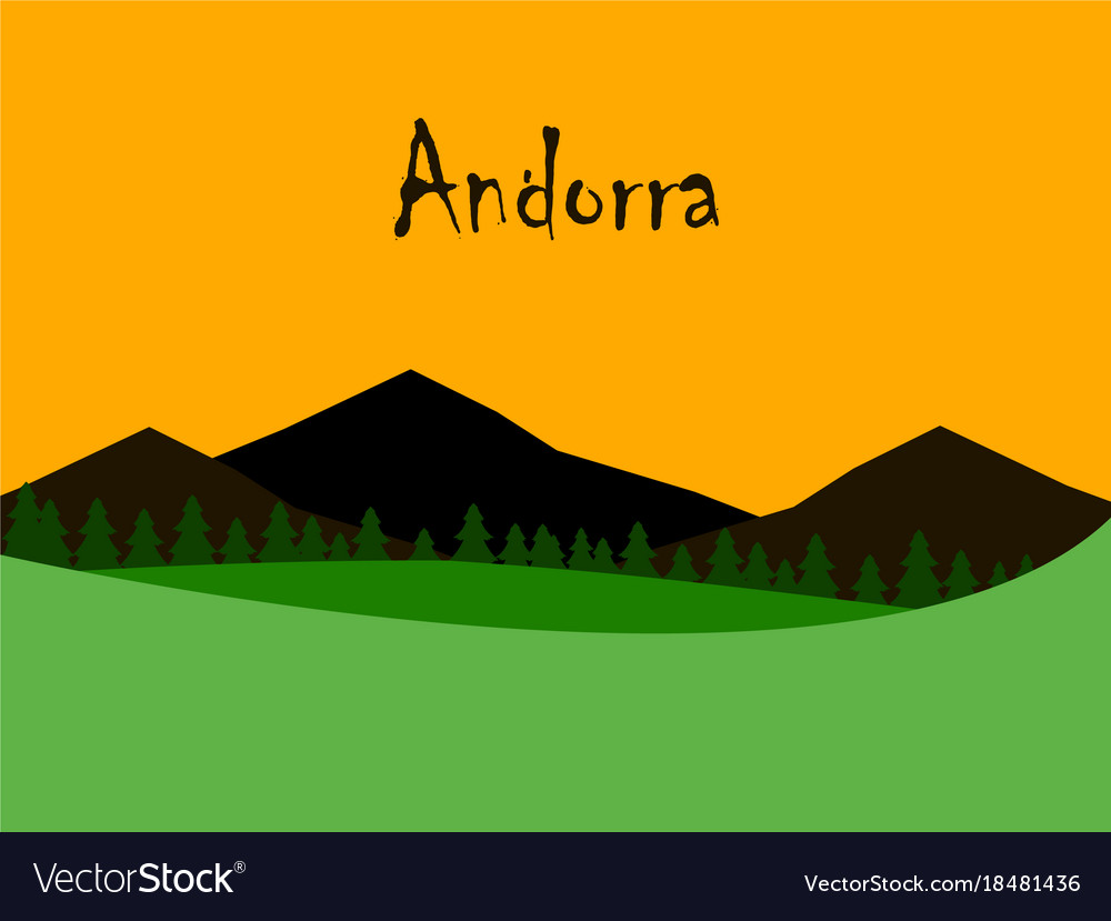 City buildings graphic template Andorra la Vella