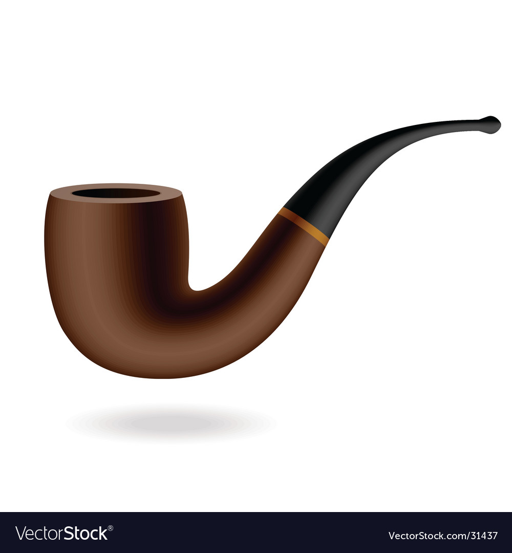 Tabacco pipe vector image