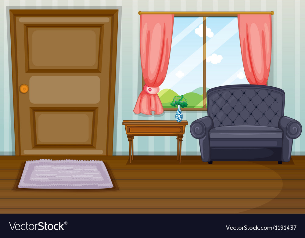 A clean living room Royalty Free Vector Image VectorStock