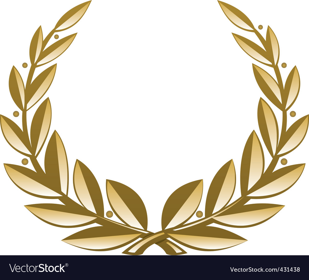 Golden wreath vector image