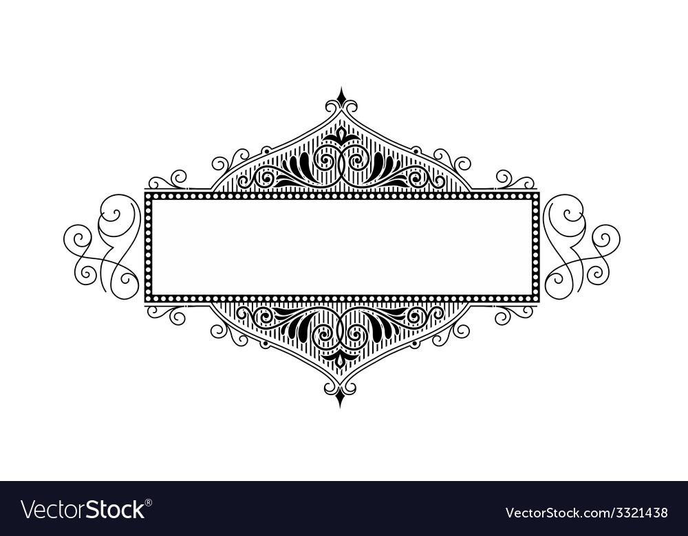 Damask greeting card vector image