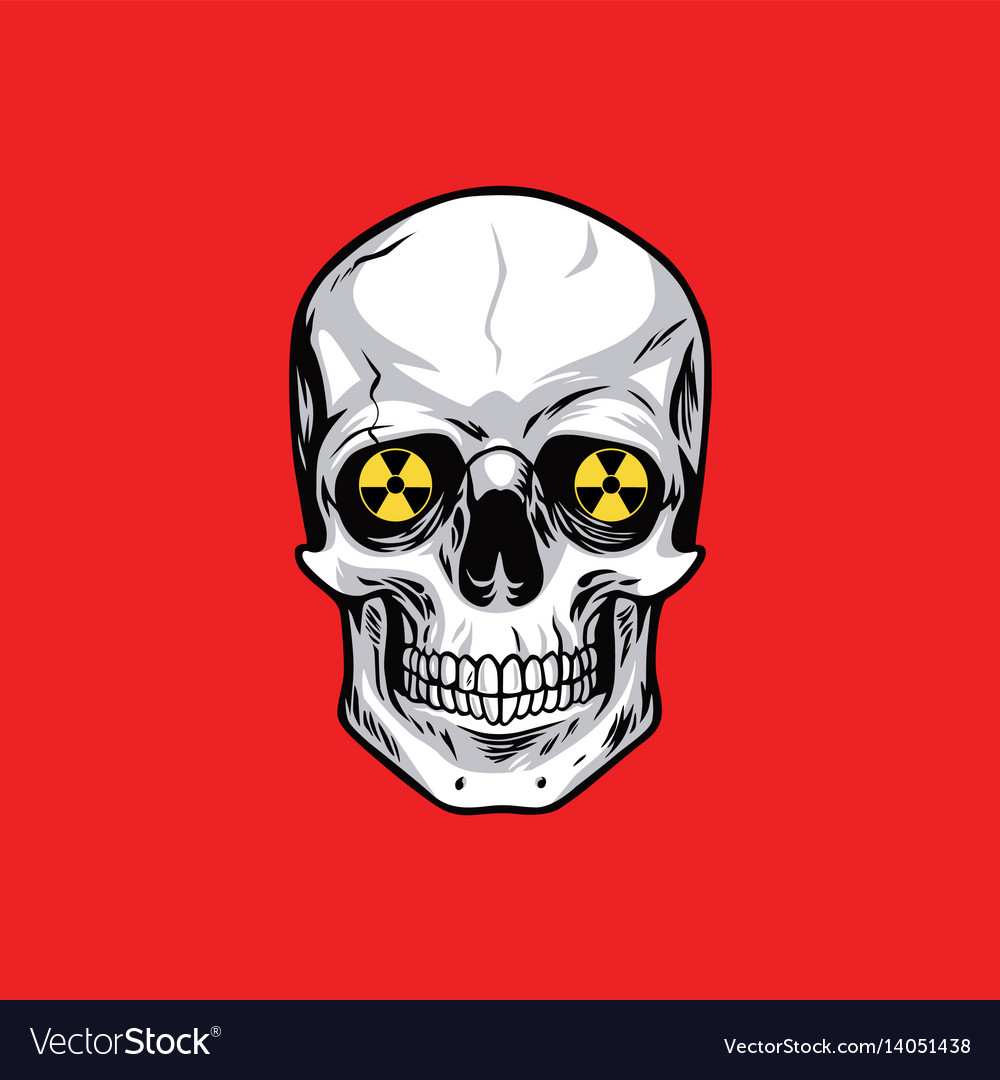 Skull with nuclear weapon sign symbols royalty free vector skull with nuclear weapon sign symbols vector image biocorpaavc Gallery