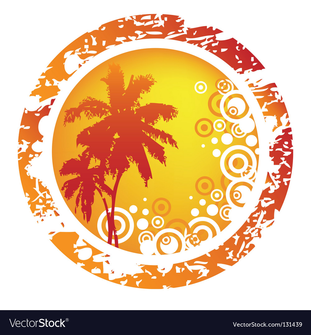 Tropical abstract background Vector Image