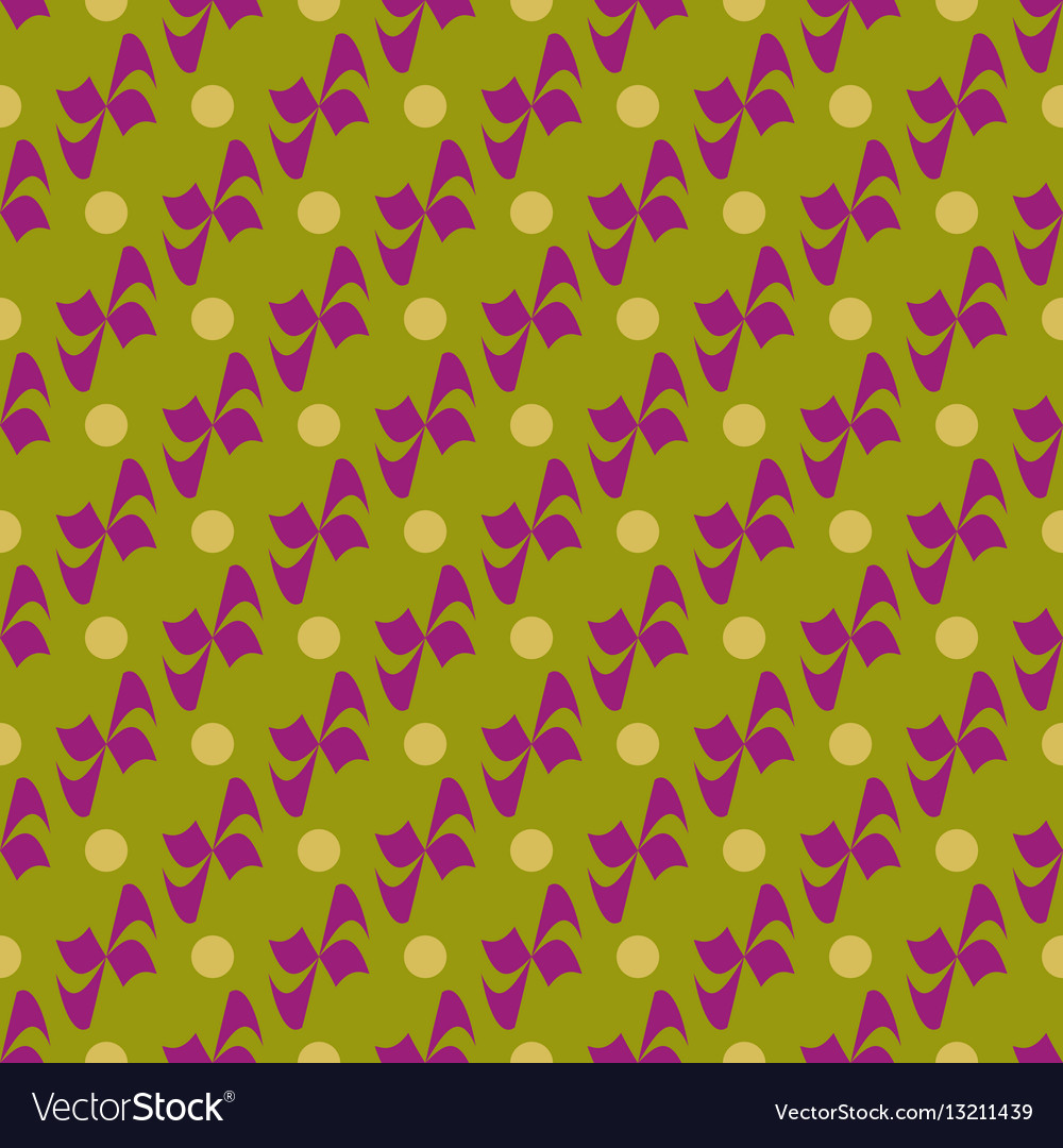 Flower polka dot geometric seamless pattern 1801 vector image