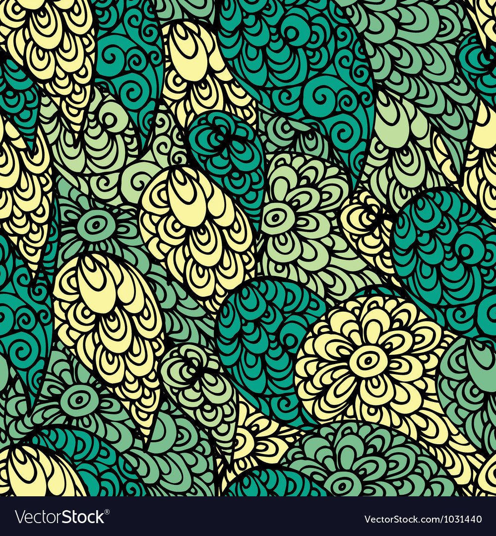 Seamless abstract doodle pattern vector image