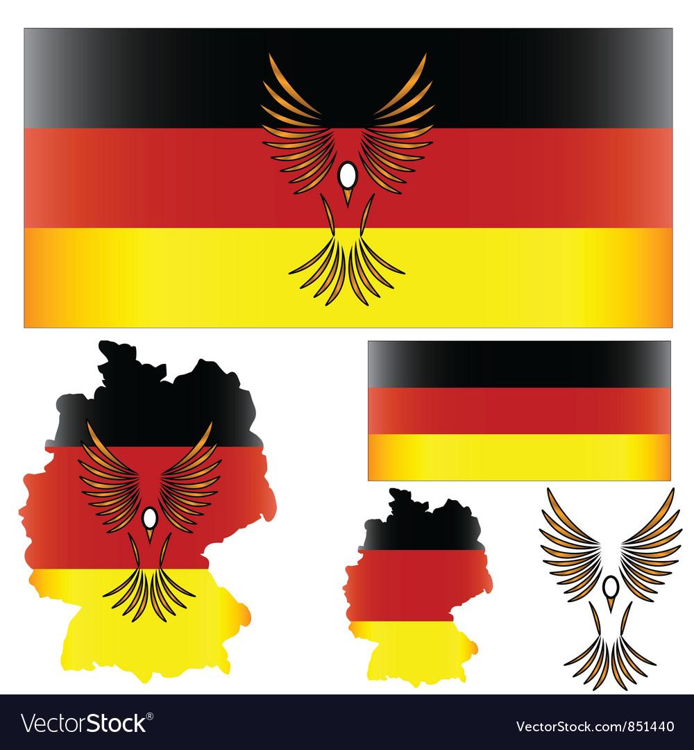 German flag and bird royalty free vector image german flag and bird vector image sciox Choice Image