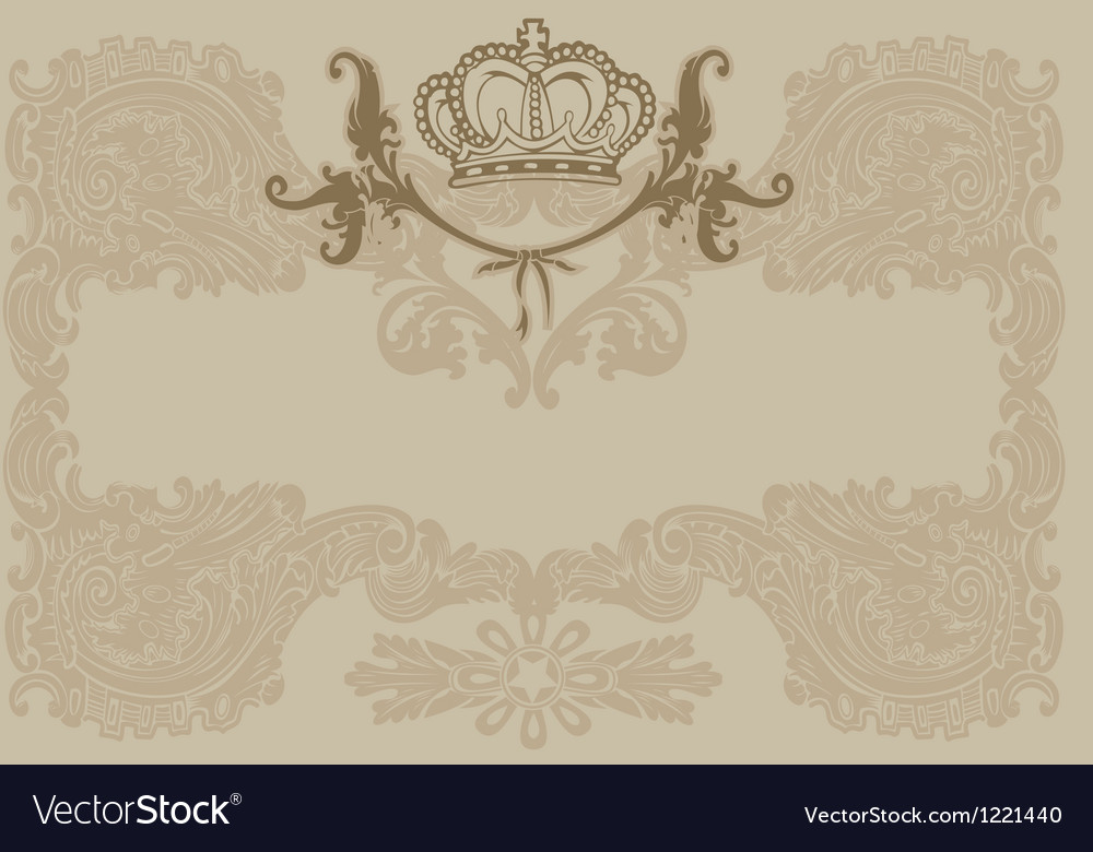 Vintage Ornate Royal Brown Background vector image