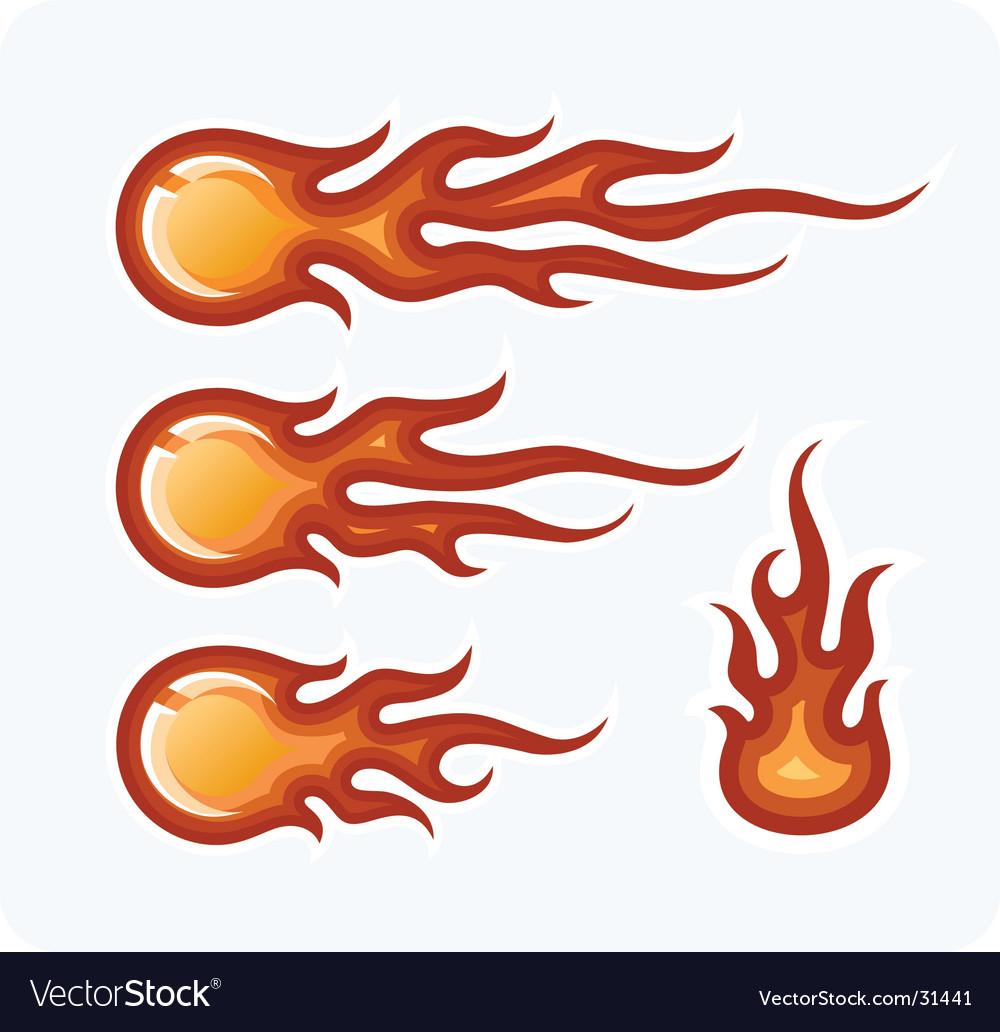 Fire-balls Vector Image