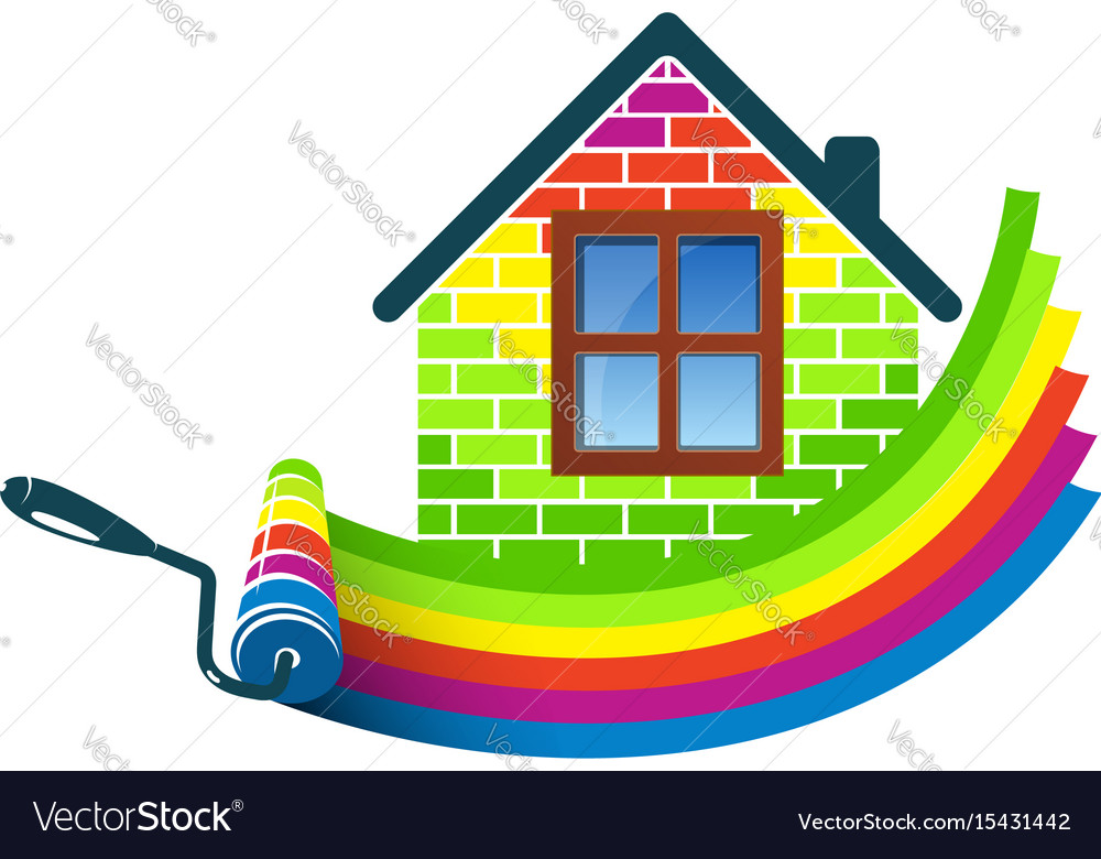 Paint roller home design royalty free vector image Home decoration vector free