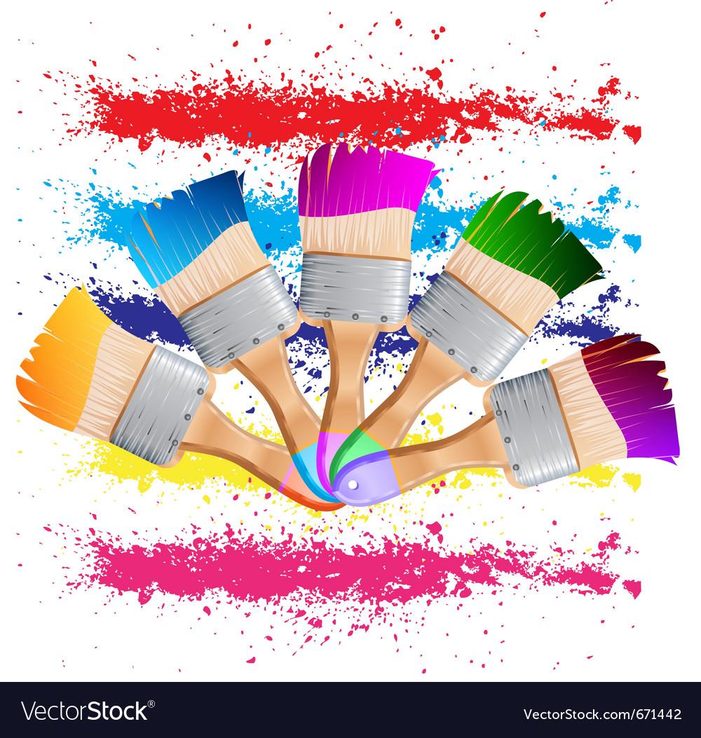 Painting brush vector image