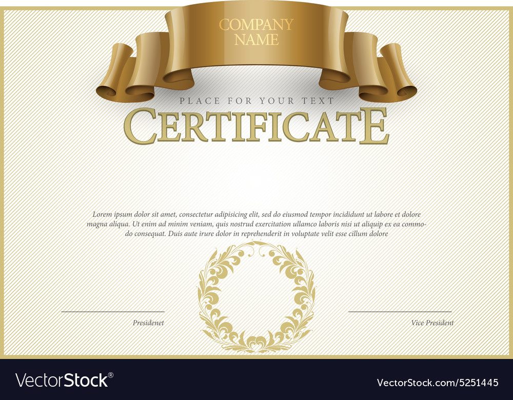 Modern certificate and diplomas template vector image modern certificate and diplomas template vector image yadclub Choice Image