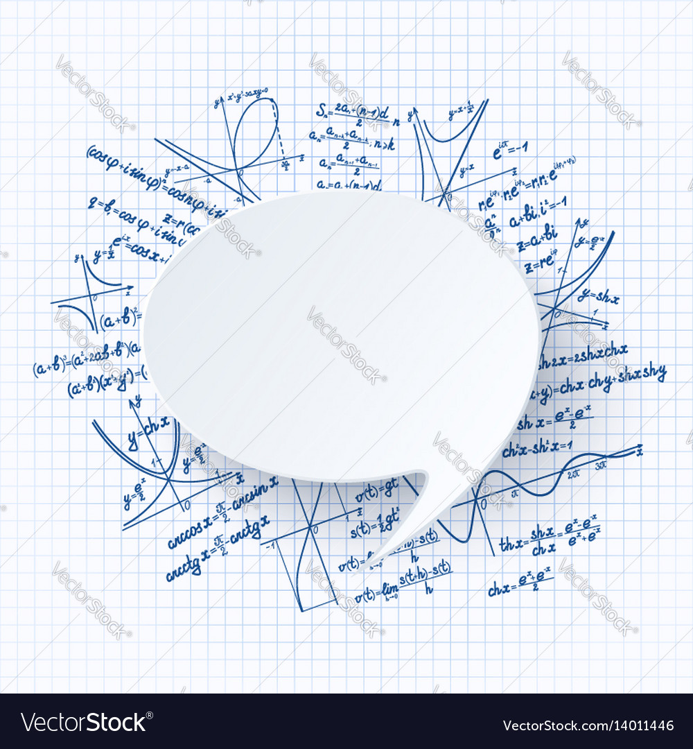 Maths background vector image