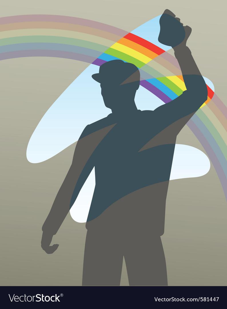 Rainbow wipe vector image