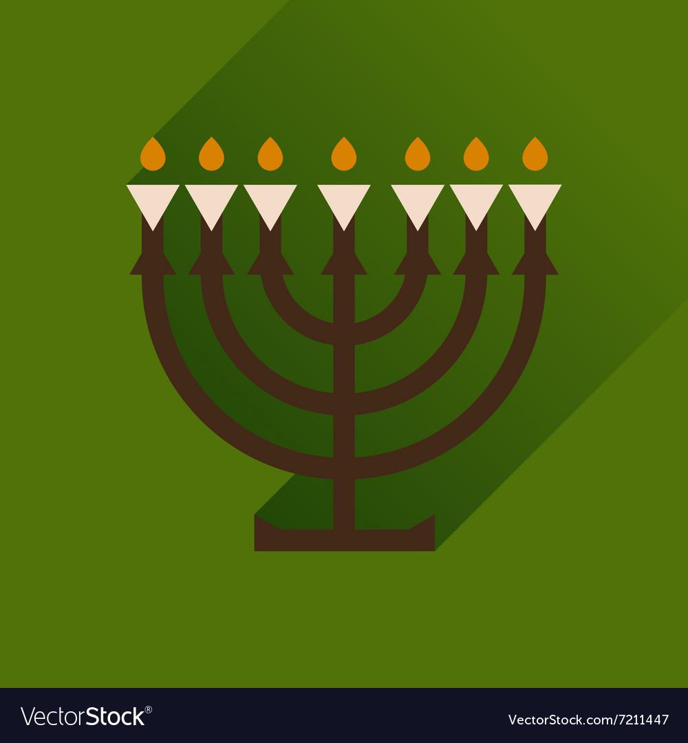 hanukkah candles with long shadow