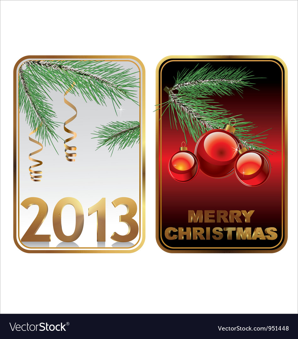 Happy new year banner vector image