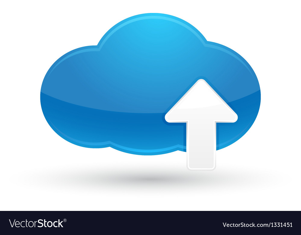 Cloud Computing Upload Icon vector image