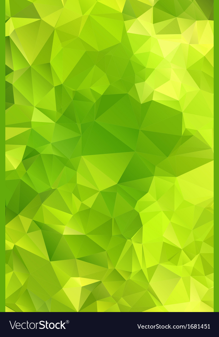Green abstract background polygon Royalty Free Vector Image