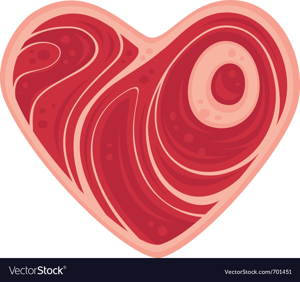 Meat heart vector image
