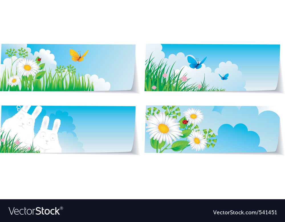Stickers set nature vector image