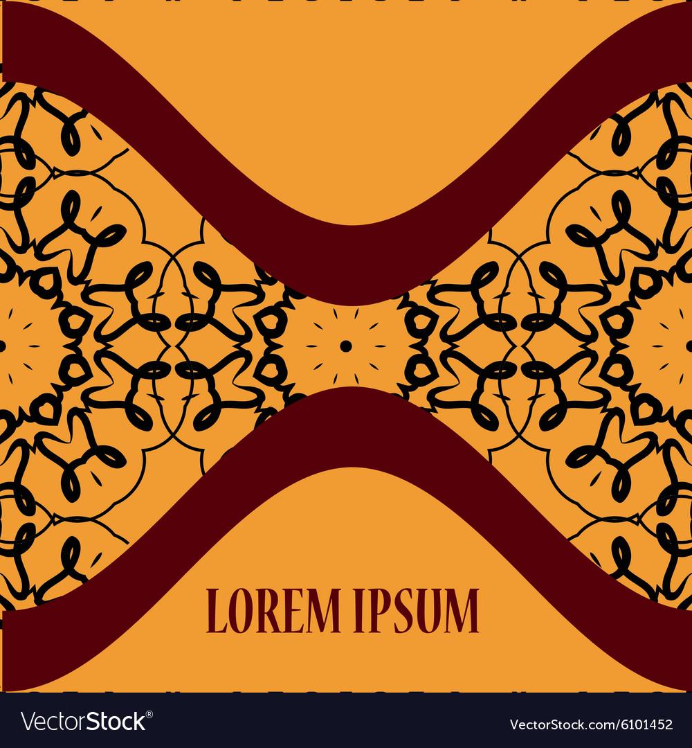 Vintage Oriental Postcar Cover vector image