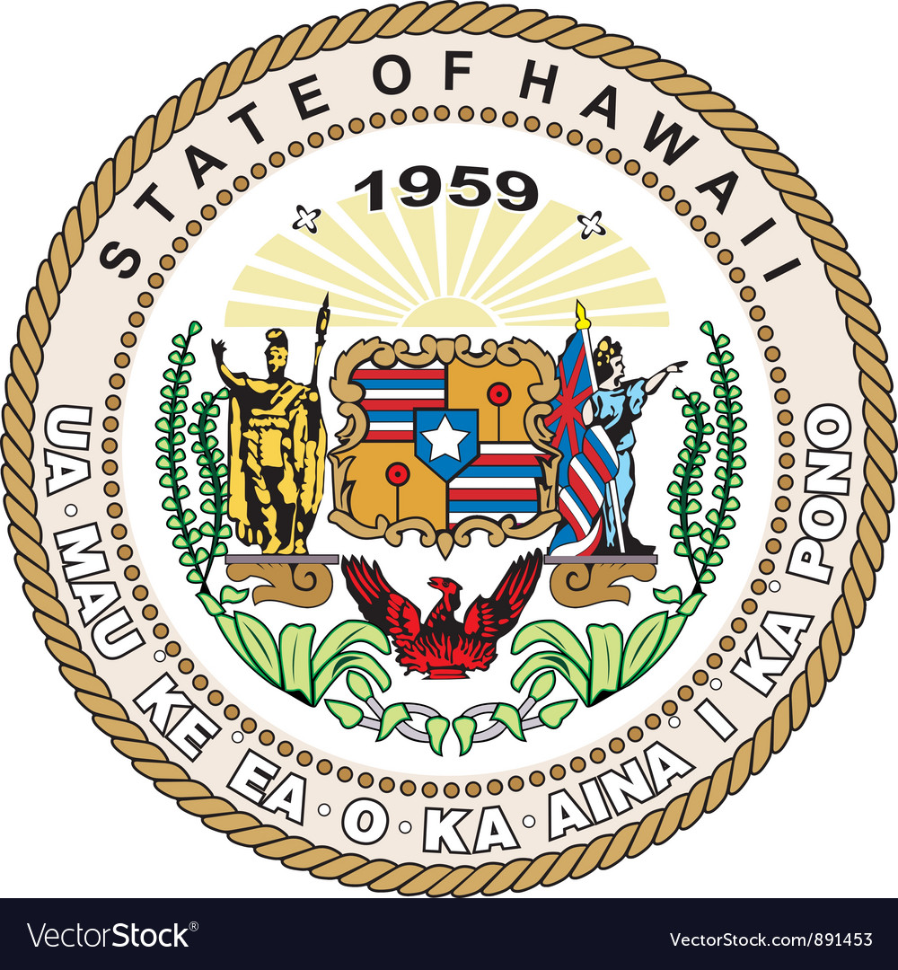 Hawaii seal vector image