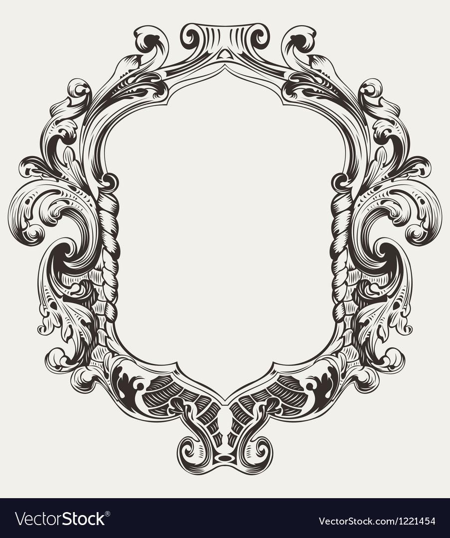 Vintage High Ornate Original Royal Frame vector image