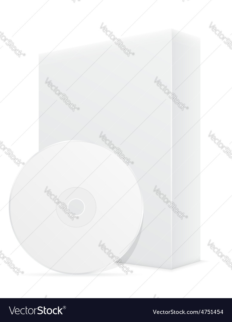 Cd and dvd bisk box packing 02 vector image