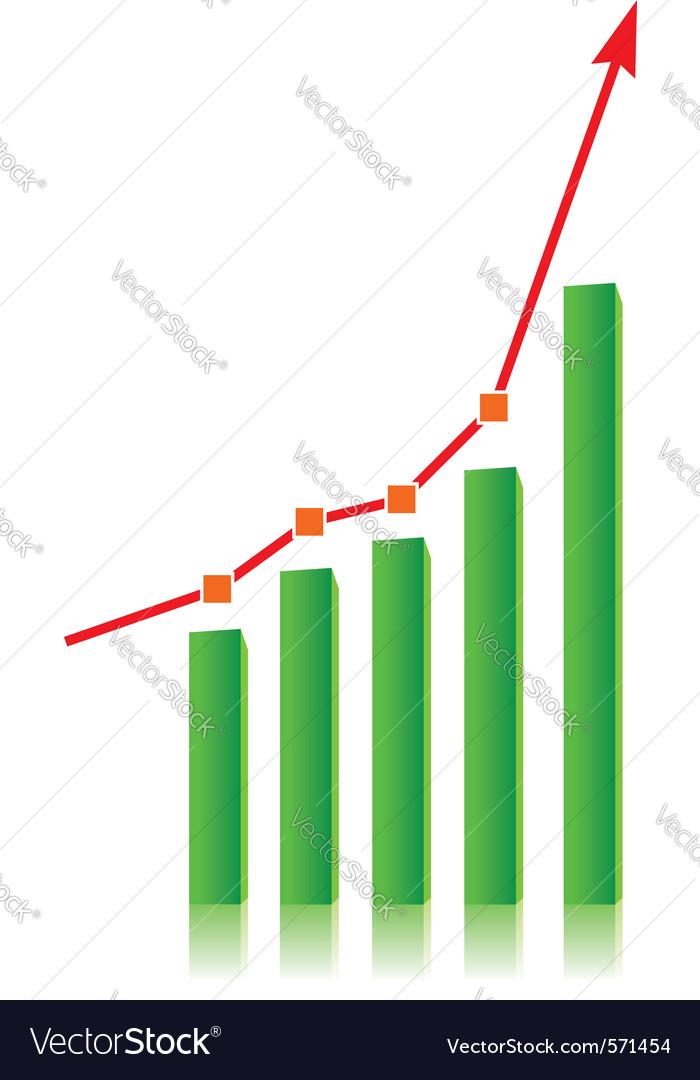 Growing bull trend vector image
