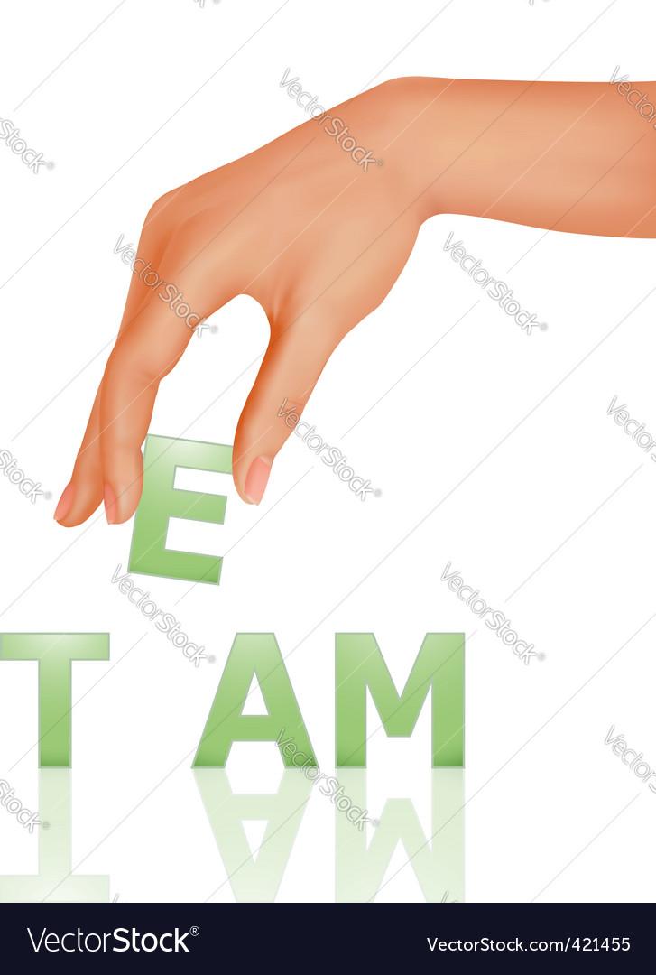 Teamwork icon vector image