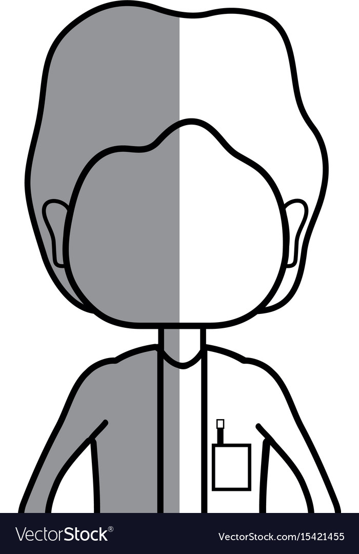 Line specialist doctor with medical uniform vector image