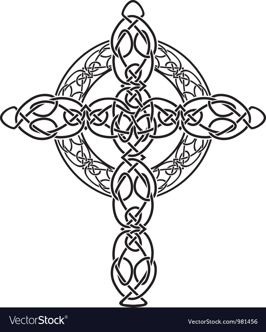 Celtic cross2 vector image