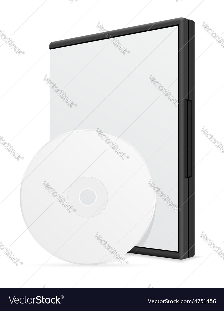 Cd and dvd bisk box packing 04 vector image