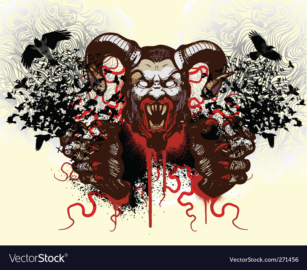 T-shirt design with monster vector image