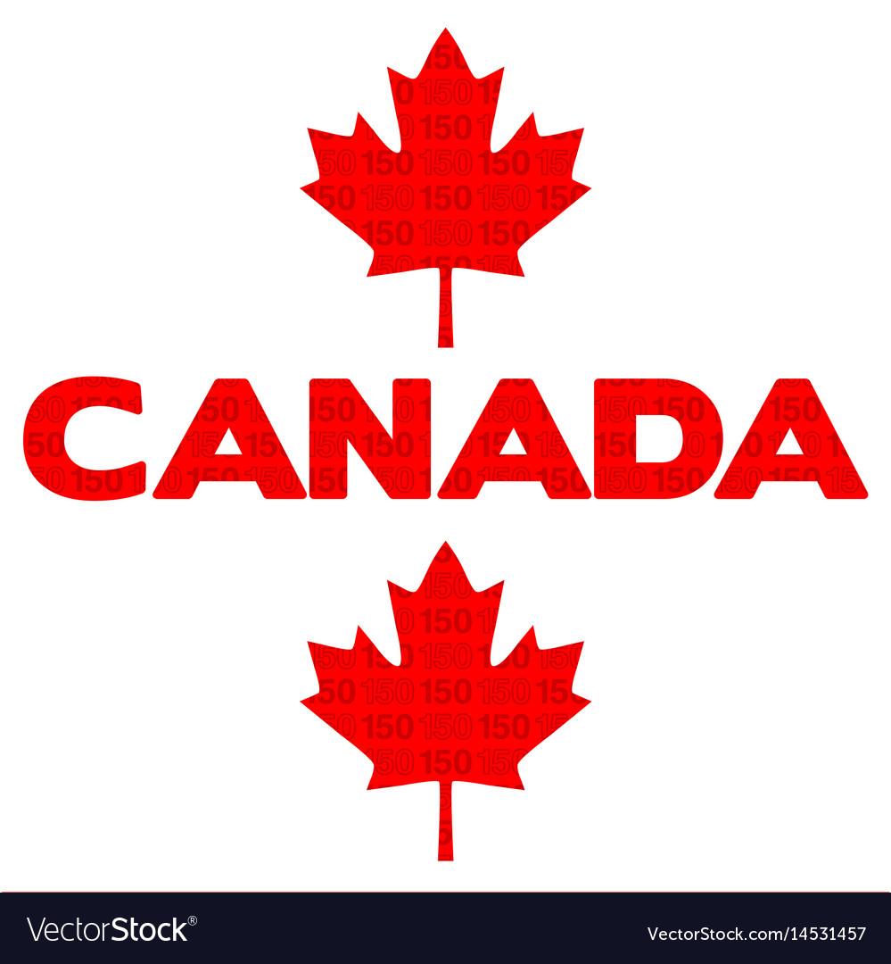 Canada 150 graphic vector image