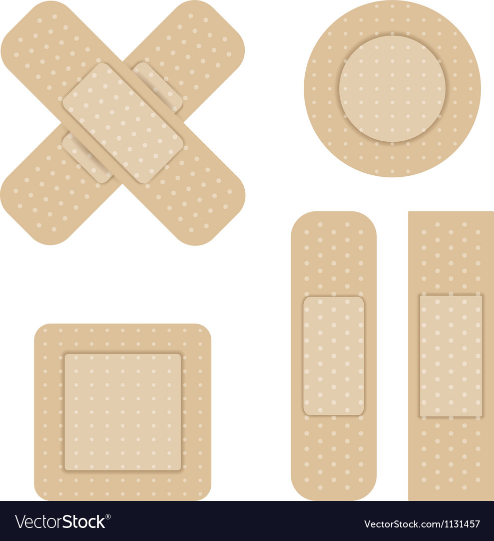 Set of Adhesive bandage vector image