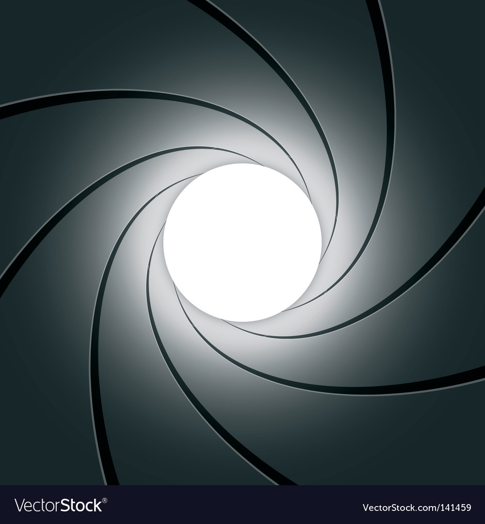 Gun barrel vector image