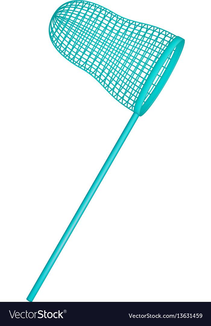 Net in turquoise design vector image