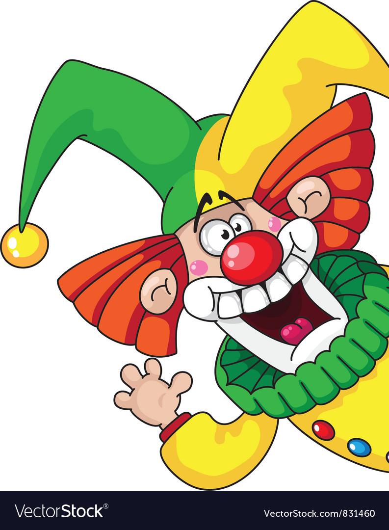 Clown head Vector Image