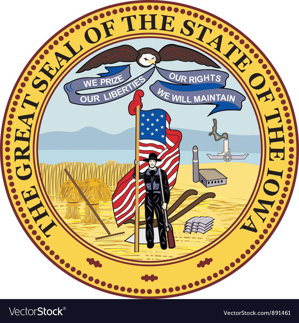 Iowa seal vector image
