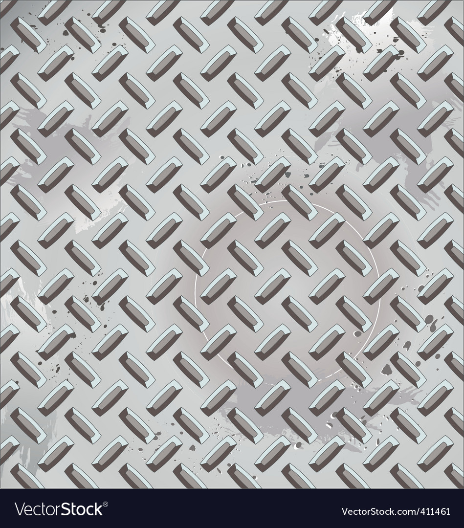 Grunge diamond plate vector image