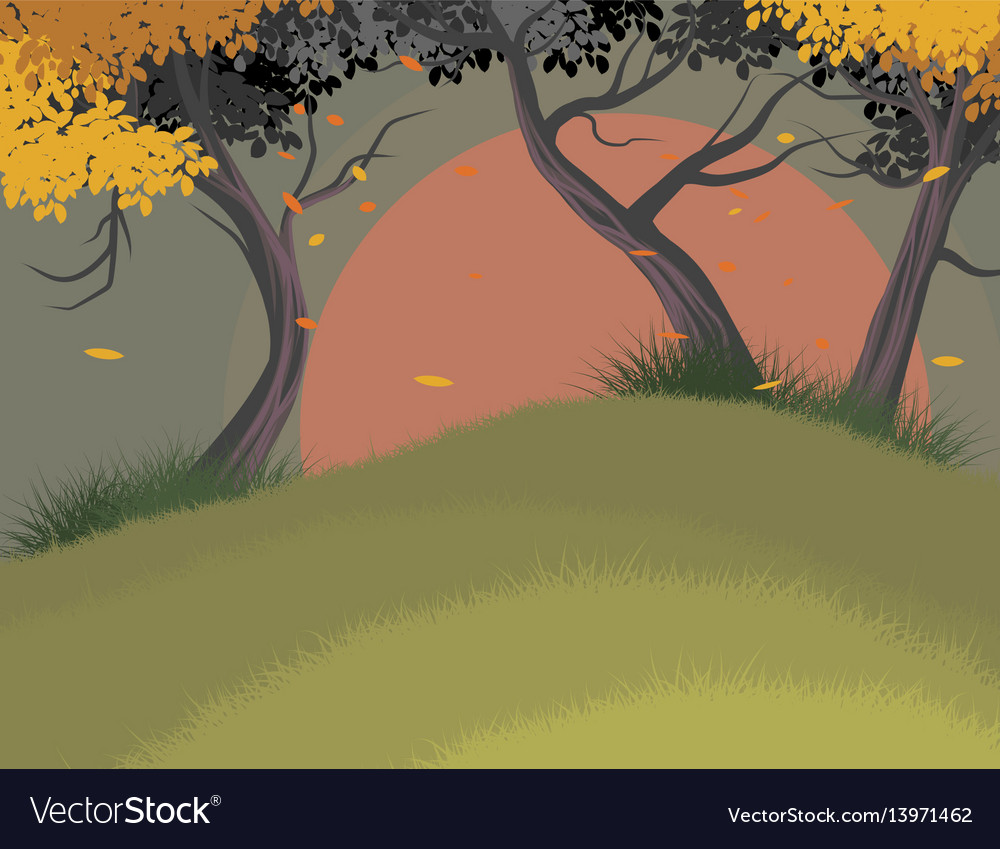 Trees falling scene